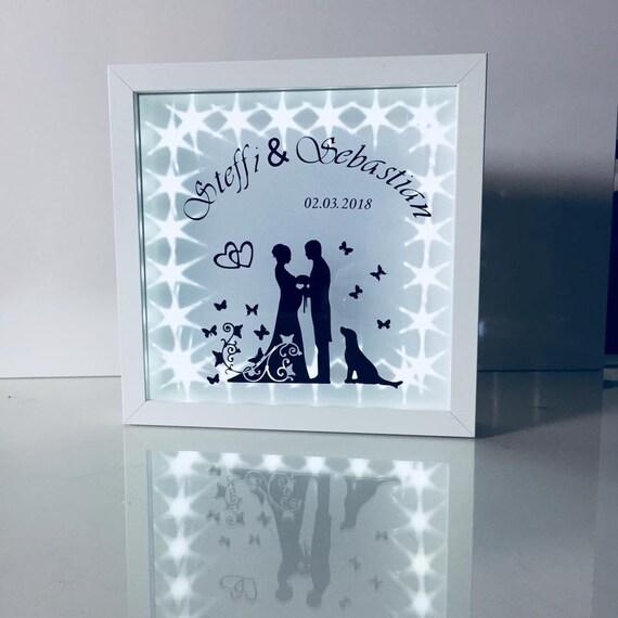 Hochzeitsgeschenk beleuchtet individualisierbar