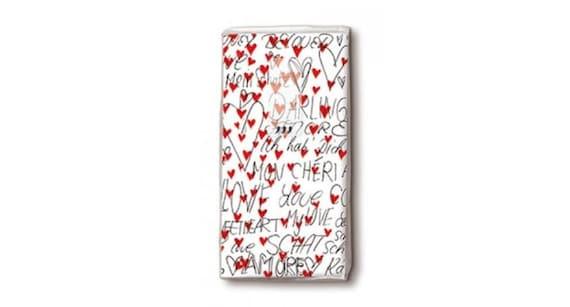 10 mit Herzen Taschentücher Freudentränen