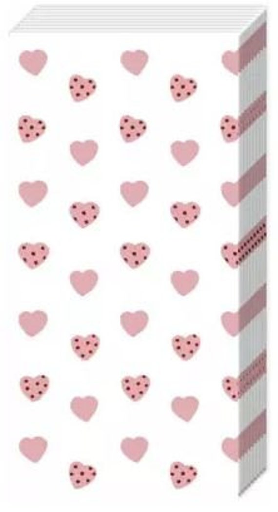 10 Taschentücher Freudentränen mit rose Herzen