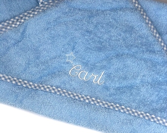Hooded towel with name