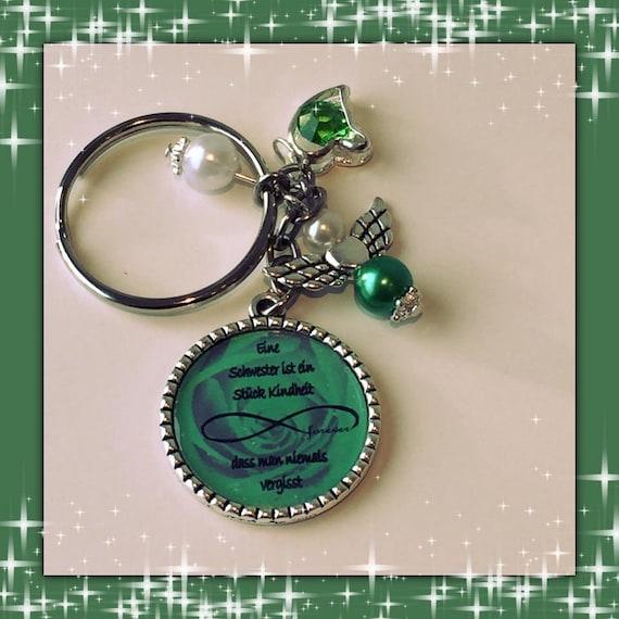 Schlüsselanhänger Schwester grün