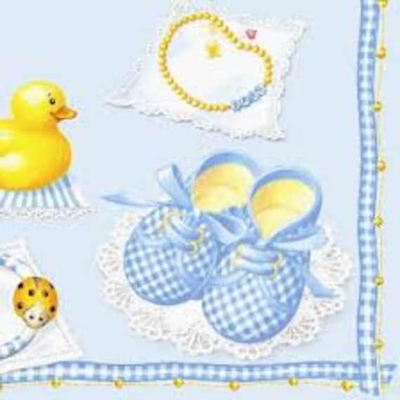 Serviette  Baby blue