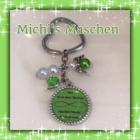 Schlüsselanhänger Trauzeugin grün