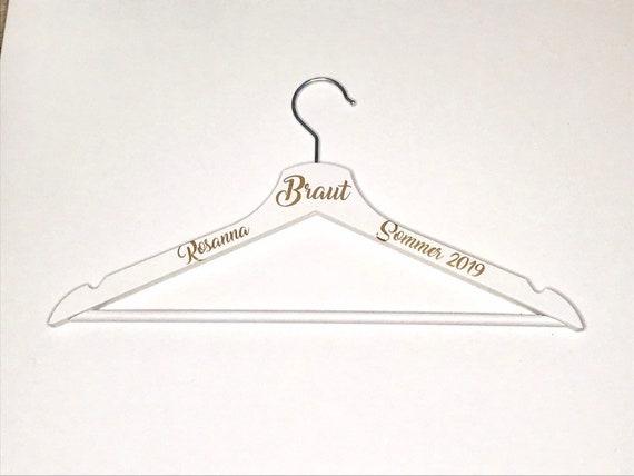 Kleiderbügel personalisiert Braut Geschenk