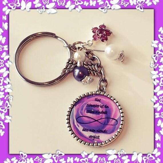 Schlüsselanhänger Schwester lila