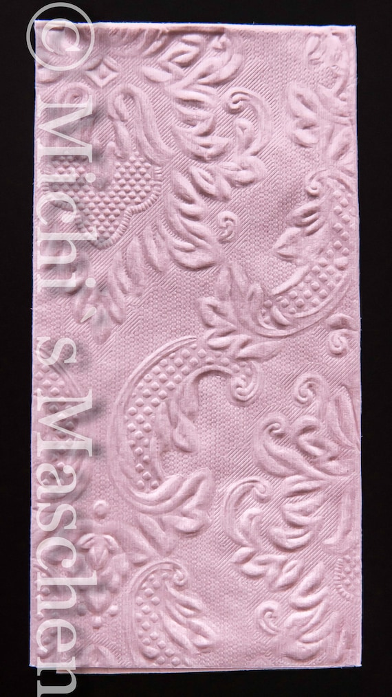 10 Freudentränen geprägt Taschentücher rosa