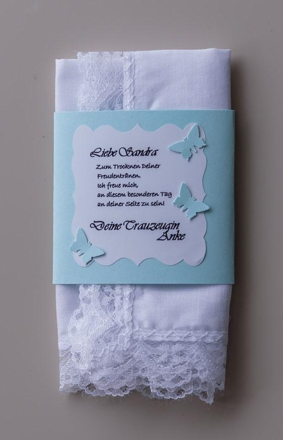 Das besondere Taschentuch für die Braut
