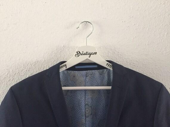 Kleiderbügel personalisiert Bräutigam