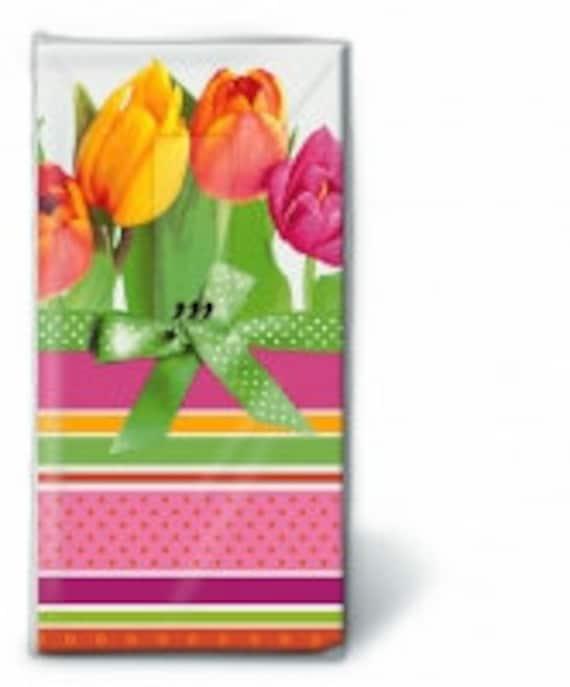 Tulpen bedruckte Taschentücher