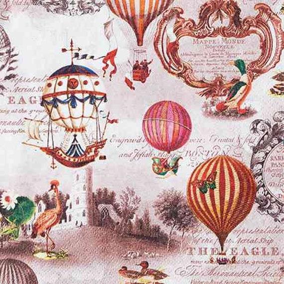 Serviette Vintage Ballons