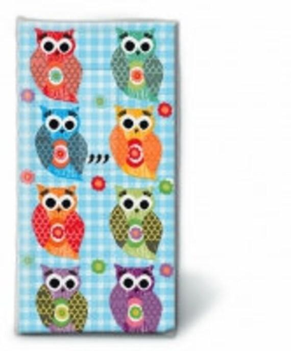 10 Freudentränen Taschentücher Eulen