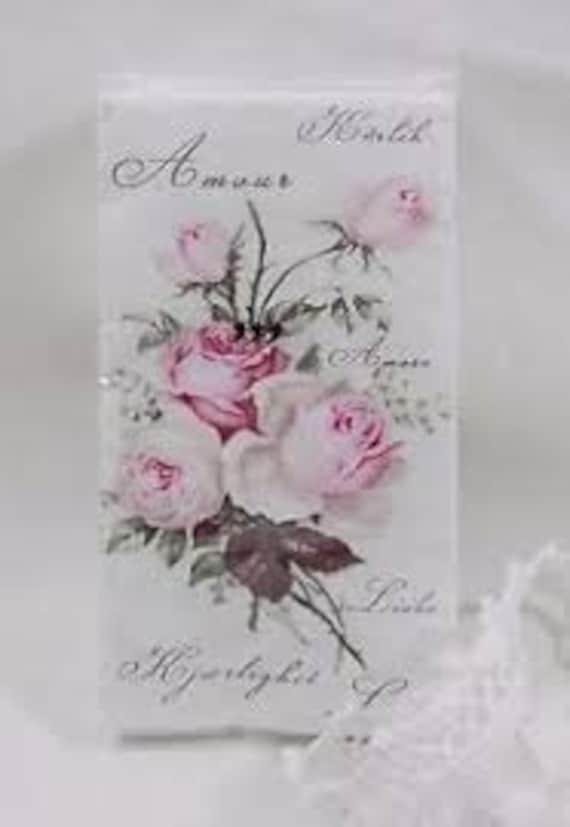 10 Freudentränen Taschentücher Rosen