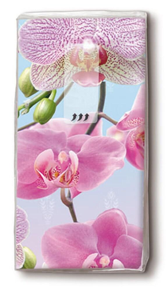 Orchidee bedruckte Taschentücher