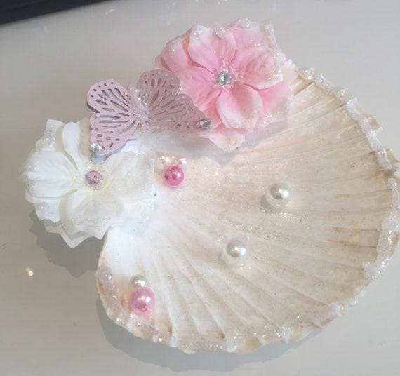 Ringkissen Muschel rosa