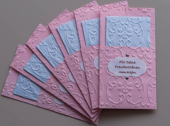 Freudentränen geprägt rosa hellblau