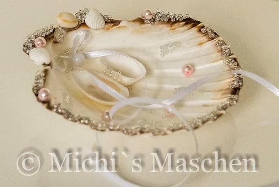 Ringkissen Muschel weiß