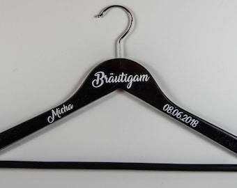 Hanger personalized groom