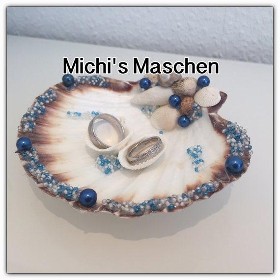 Ringkissen Muschel blau