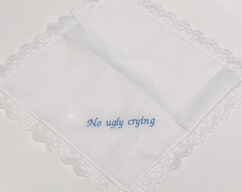 Tears of joy embroidered with name