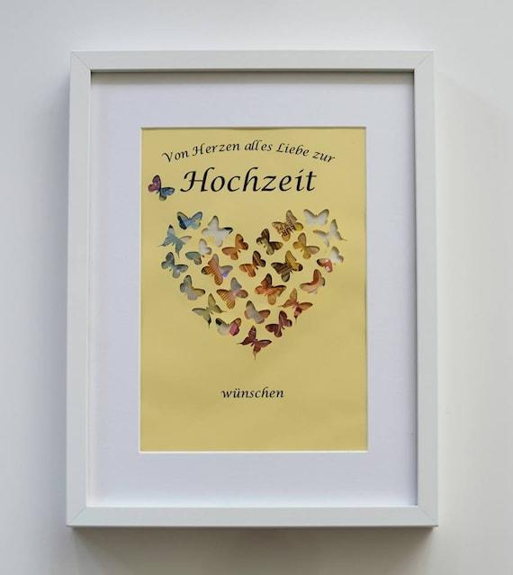 personal. Geldgeschenk Herz ohne Rahmen