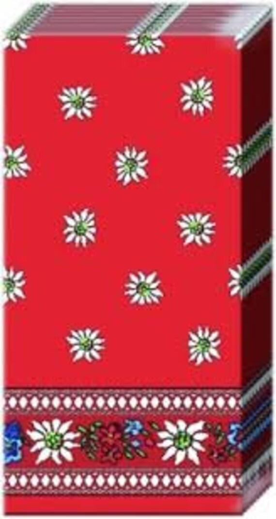 10 Taschentuch rot Edelweiß