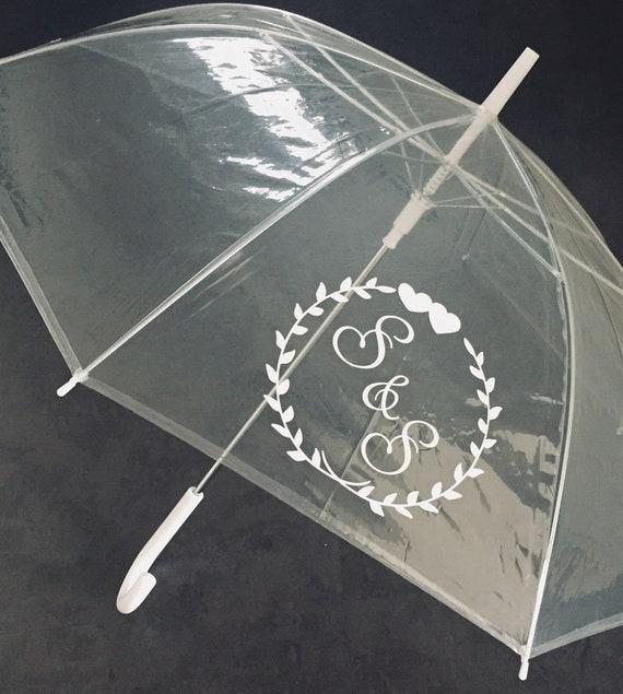 Regenschirm transparent personalisiert