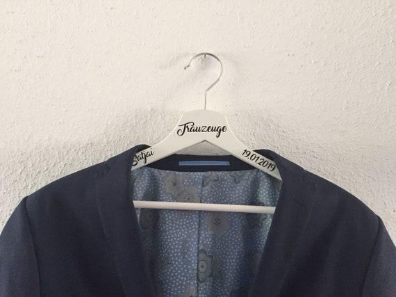 Kleiderbügel personalisiert Trauzeuge