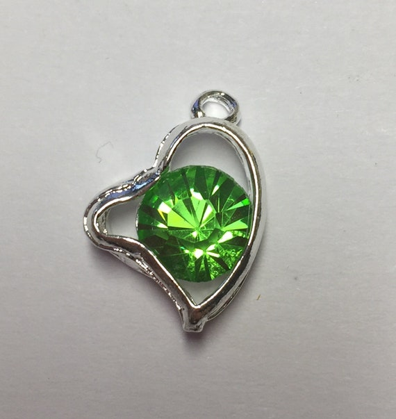Herz Anhänger grün 10x