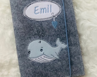 U-booklet cover felt personalized