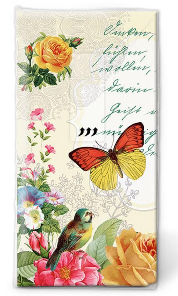 10 Freudentränen Taschentücher Schmetterling