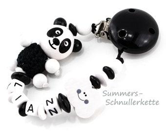Schnullerkette Panda