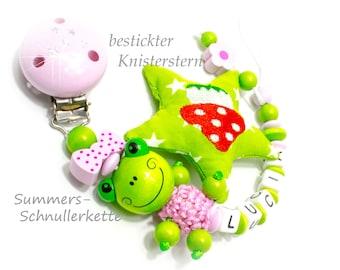 Schnullerkette Frosch Mädchen