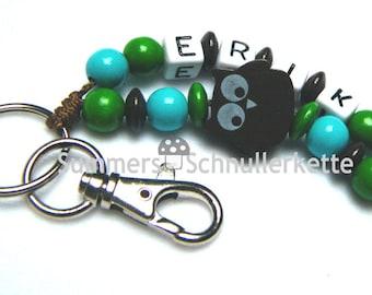Keychain Name Pendant owl