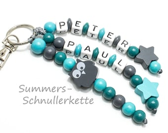 Key fob name Pendant Taschenbaumler training, kindergarten bag