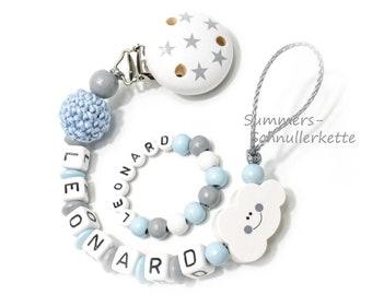 Schnullerkette und Armband Set Geschenk Geburt Baby