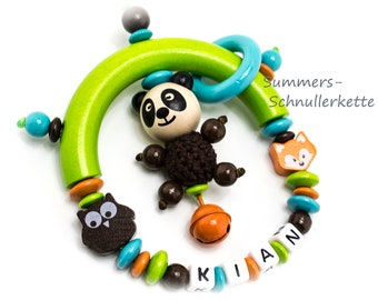 Grippling Owl, Fox, Panda Bear, with or without name, colourful
