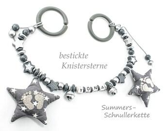 Stroller Necklace Grey Silver