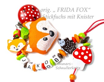"Schnullerkette ORIGINAL Fuchs  ""Frida Fox"""