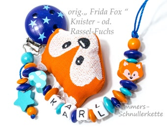 "Schnullerkette ORIGINAL Fuchs ""  Frida Fox """