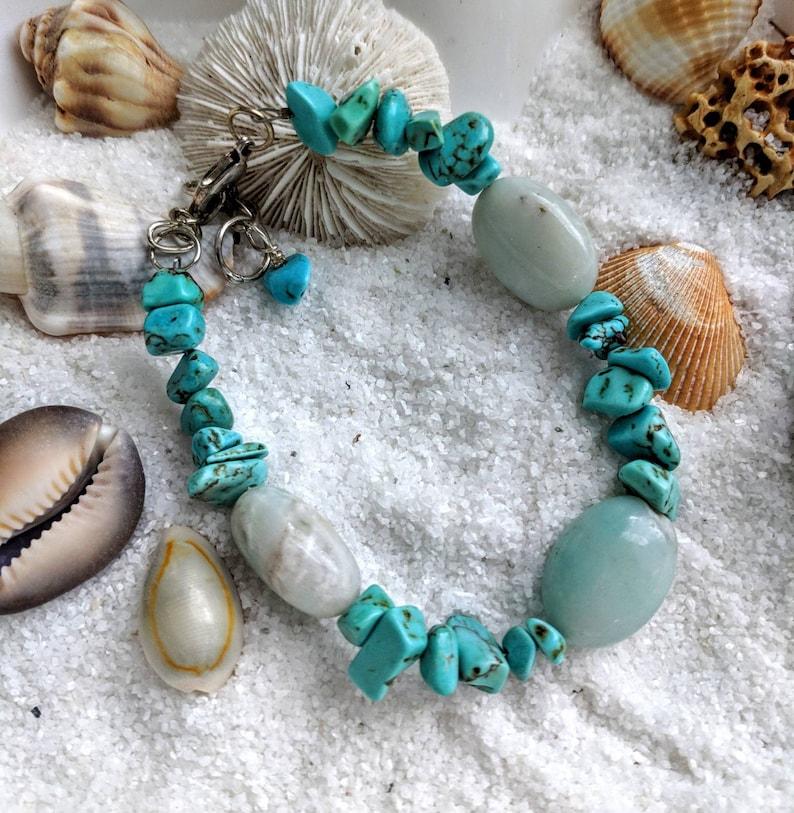 Amazonite Turquoise December birthday amazonite beads custom image 0
