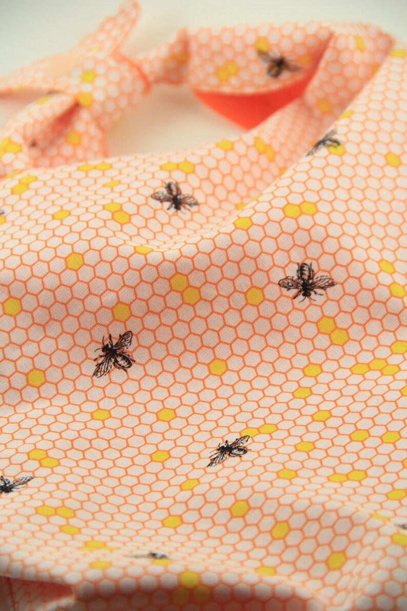 Bee Dog Bandanna Snap On or Tie On Bandana Oh Honey