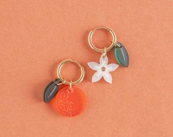 Fruit Collection x Orange Earrings Set with Orange Blossom Neroli