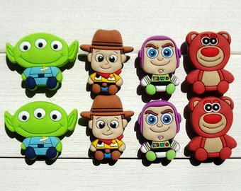 c0eea545e77 8 Pcs Toy Story Shoe Charms Pvc Fit Buckles And Bracelets Lovely Buckle  Accessories Decoration Party Cartoon Kids Gift