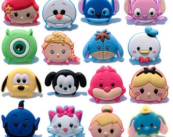 7e8a6f2f127f8 Disney Tsum Tsum Shoe Charms PVC Fit Buckles And Bracelets Lovely Buckle  Accessories Decoration Party Croc Jibbitz Kids Gift