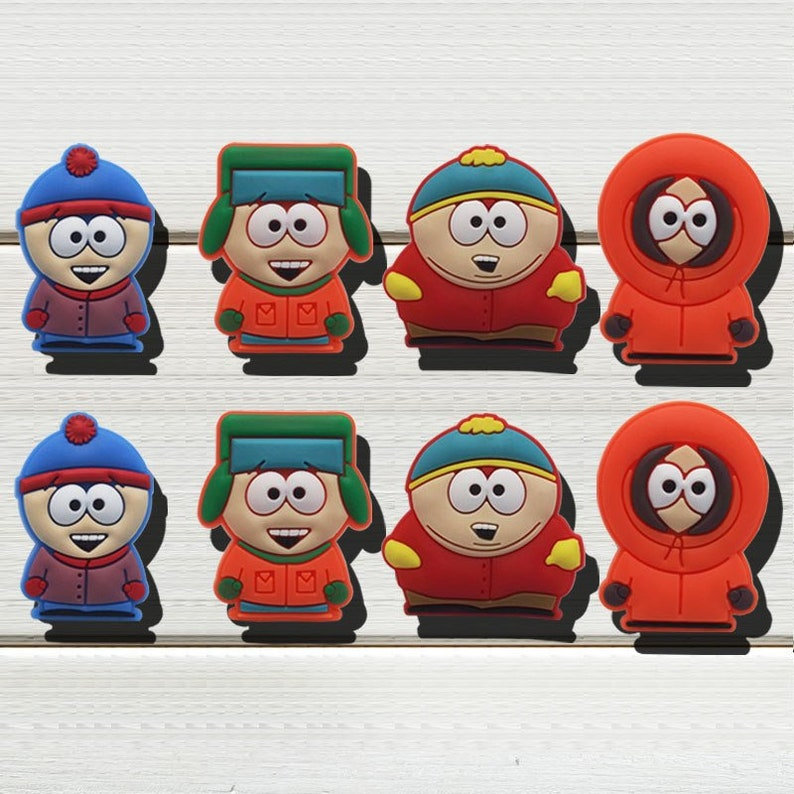 c8fc94c6a323 1 pcs South Park Shoe Charms Pvc Fit Buckles And Bracelets