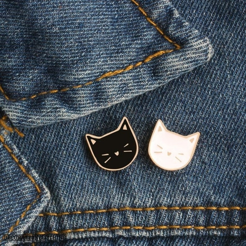 Apparel Sewing & Fabric Arts,crafts & Sewing 1 Pcs Cute Cartoon Fish Cat Metal Badge Brooch Button Pins Denim Jacket Pin Jewelry Decoration Badge For Clothes Lapel Pins