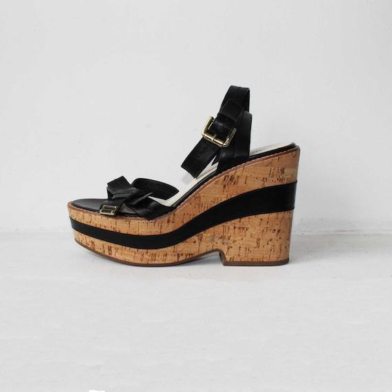 Marc Jacobs platform sandals Black leather sandals