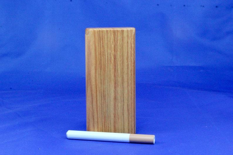 "4""  Classic Red Pearl Flaxinus Wood Dugout One Hitter Slide Top W// Aluminum Bat"