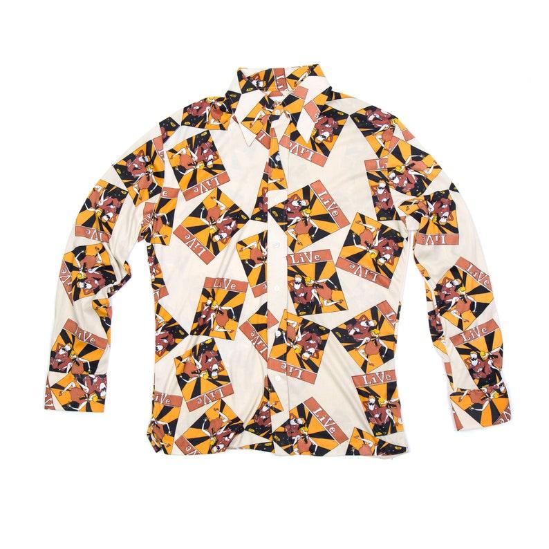 Male Duds 70s Vintage Button Up Shirt  L image 0