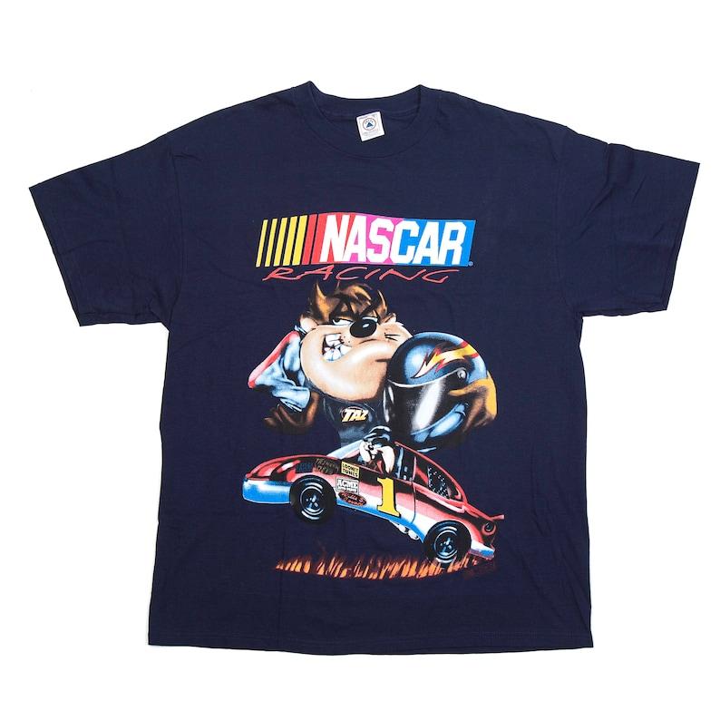 Vintage Taz Nascar Racing Tee  Dark Blue  XL image 0